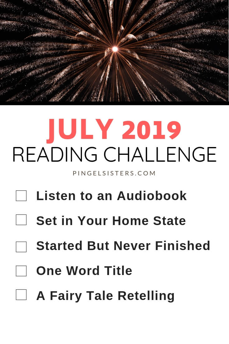 July Reading Challenge 2019 // Read a book a week this year by starting with these categories for your July Reading Challenge