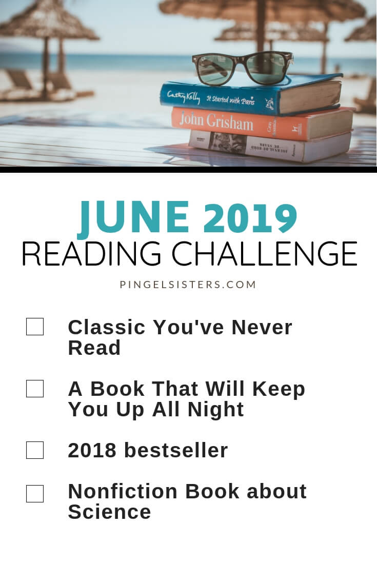 June Reading Challenge 2019 // Read a book a week this year by starting with these categories for your June Reading Challenge