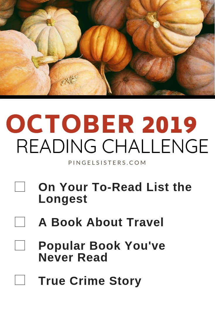 October Reading Challenge 2019 // Read a book a week this year by starting with these categories for your October Reading Challenge