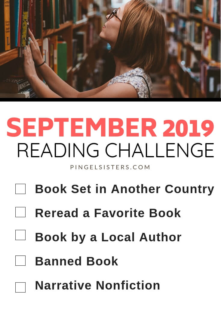 September Reading Challenge 2019 // Read a book a week this year by starting with these categories for your September Reading Challenge